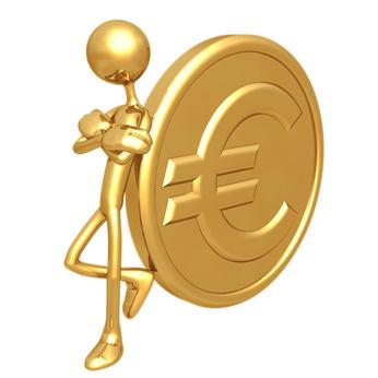 Attitude Lean Gold Euro Coin