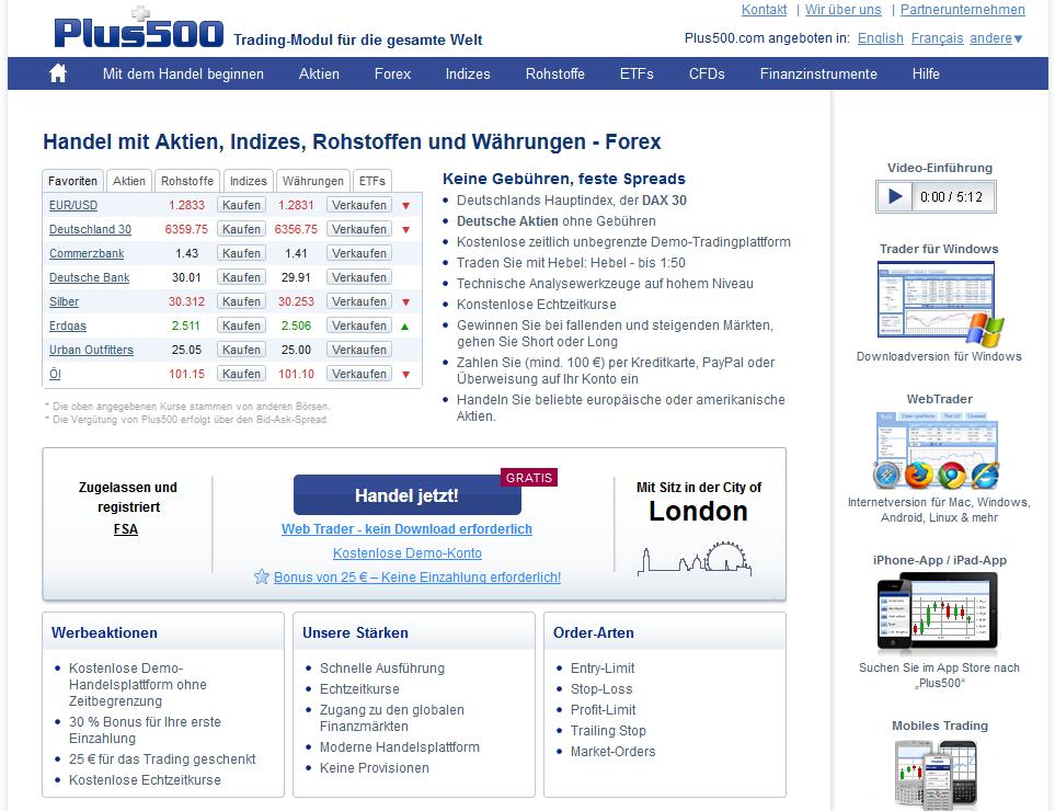 plus500_webseite