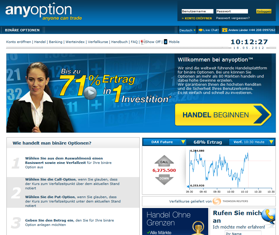 Anyoption Webseite | Mc Forex